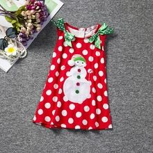 2016 Retail New Classic sleeveless Baby Girl clothes Kids Clothes A-line Christmas dress Pretty Dresses children clothing A103(China (Mainland))