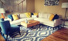 L-shaped couch living room