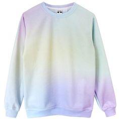 Pastel Princess Sweatshirt ❤ liked on Polyvore featuring tops, hoodies, sweatshirts, sweaters, shirts, sweatshirt, jumpers, tie-dye shirts, tye dye shirts and tie dye sweatshirt
