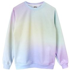 Pastel Princess Sweatshirt ❤ liked on Polyvore featuring tops, hoodies, sweatshirts, sweaters, sweatshirt, dip dye top, tie dye sweatshirt, rainbow sweatshirt, tye dye sweatshirt and long sleeve knit tops