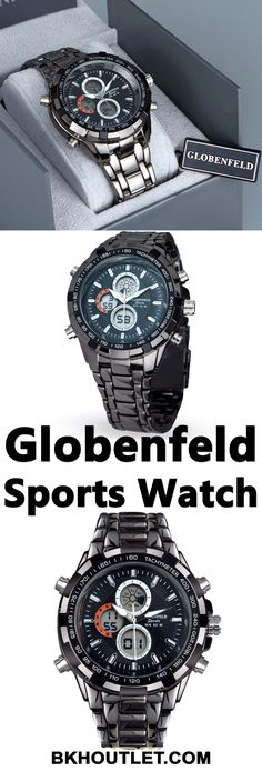 Multi-Function Executive Watch for the Modern Man The Globenfeld Sport Shark stands out from the crowd with a sleek design that looks the part whether you're at work or out to dinner. │man fashion │watch │man watch │beautiful watch │hand clock │hand watch │man watch #manfashion #watch #manwatch #beautifulwatch #handclock #handwatch #manwatch