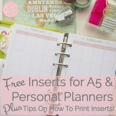 Get your free inserts for A5 & personal planners with monthly layout! Plus, get tips on how to print planner inserts!