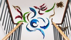glass art sculpture for wall