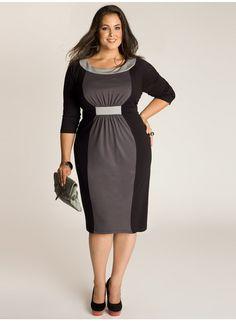 Sophie Colorblock Dress in Black/Grey I LOVE IGIGI!!!!