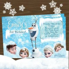 Frozen party invitations and favors from shopsweetums.com Featured @ www.partyz.co !