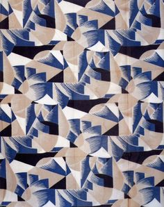 Textile design produced by Pierre Chareau in 1927