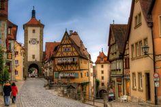 cidades pequenas e charmosas na Alemanha Rothenburg-ob-der-Tauber