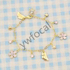Cosplay Anime Cardcaptor Sakura Bracelet Charm Star Sakura Pendant Bangle Gift   Collectibles, Animation Art & Characters, Japanese, Anime   eBay!