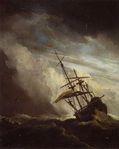 Willem Van De Velde II - The gust (De windstoot)
