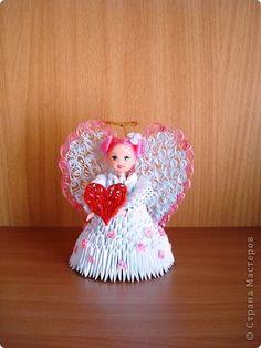 Внеклассная работа Поделка изделие Валентинов день Квиллинг Оригами китайское модульное Модульное оригами Бумага