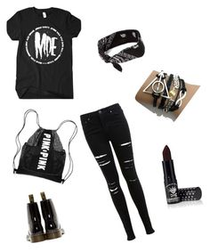 """""""Outfit Number 1"""" by indiepiddle-aol-com ❤ liked on Polyvore featuring Miss Selfridge, Dr. Martens, claire's and Manic Panic"""