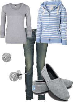 "Love this! Except for the earrings.   ""Comfy Casual"" by lgull on Polyvore"