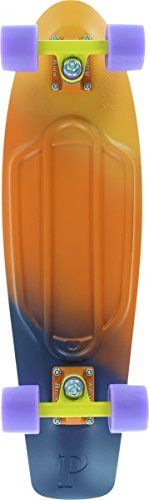Nickel Penny Authentic Fade YellowOrangePurple Dusk Skateboard Deck Complete 27 -- Details can be found by clicking on the image.