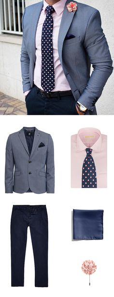 Get The Look - Pink + Blue Polka Dots