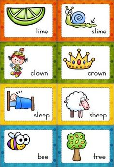 Printables Rhyme Words rhyme time set 1 focus on children and word work activities 140 cards that long vowels r controlled diphthongs vowel variants comes with a response sheet