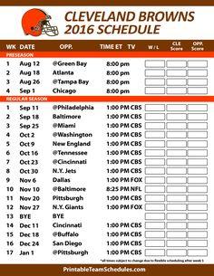 Cleveland Browns 2016 Football Schedule. Print Schedule Here -  http://printableteamschedules.com/NFL/clevelandbrownsschedule.php