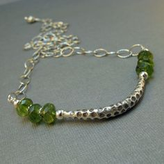 Peridot and Hill Tribes Silver Necklace by CountenanceJewelry, $62.00