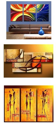 Extra large hand painted art paintings for home decoration. Large wall art, canvas painting for bedroom, dining room and living room, buy art online. 3 Piece Canvas Art, 3 Piece Painting, 3 Piece Wall Art, Large Painting, Acrylic Painting Canvas, Large Wall Art, Hand Painting Art, Large Art, Canvas Paintings For Sale