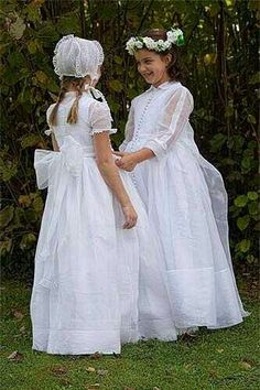Vestidos Holy Communion Dresses, Première Communion, Elegant Dresses, Cute Dresses, Flower Girl Dresses, Maid Dress, Heirloom Sewing, Beautiful Bride, Kids Outfits