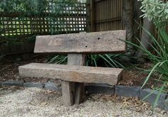 The sleeper seats are made from recycled ' A' grade railway sleepers that have minimal defects. Description from kropf.com.au. I searched for this on bing.com/images