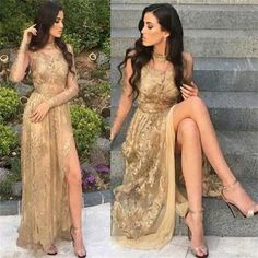 Prom Dresses Elegant, 2018 gold lace long sleeveless prom dresses fashion modern prom dress party dress , Mermaid prom dresses, two piece prom gowns, sequin prom dresses & you name it - our 2020 prom collection has everything you need! Pageant Dresses For Teens, 2 Piece Homecoming Dresses, Split Prom Dresses, Elegant Bridesmaid Dresses, Prom Dress Stores, A Line Prom Dresses, Mermaid Prom Dresses, Prom Party Dresses, Dress Party
