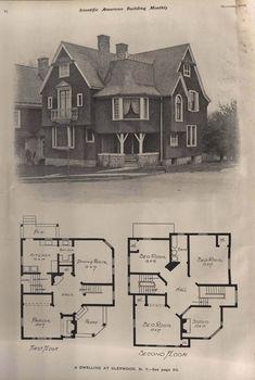 Extravagant Homes, Crazy Home, Sims House Plans, Vintage House Plans, Architectural Prints, Retro Home, Classic House, Building Plans, Park City