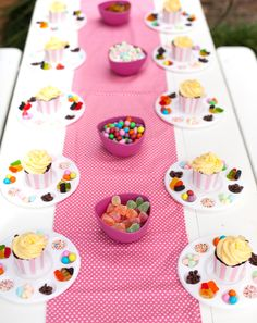 Bake Shoppe Party Activity... decorate your own cupcake! #PartyGameIdeas #BakeShoppePartyIdeas #DecorateYourOwnCupcake