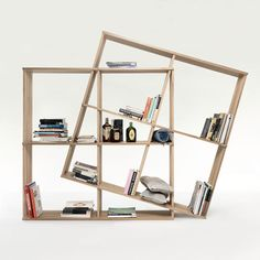 Resource Furniture has space-saving storage solution for every room in every home. Resource Furniture, Modular Bookshelves, Modular Shelving, Solid Oak Bookcase, Shelving Design, Bookshelf Design, Multifunctional Furniture, Multipurpose Furniture, Furniture Storage