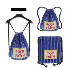 cfe3188a5824 Fashion Polyester   Mesh Drawstring Bag For Teenage