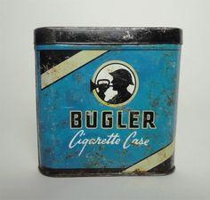 Vintage Bugler Cigarette Case Metal Collectible Advertising Tin VATC830 ... For Sale