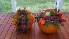 Smuk efterårs-græskar-dekoration Crafts For Kids, Pumpkin, Gardening, Table Decorations, Halloween, Flowers, Home Decor, Spring, Autumn
