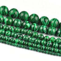 wholesale 4mm 6mm 8mm 10mm 12mm Malachite Gem Round Loose Spacer...