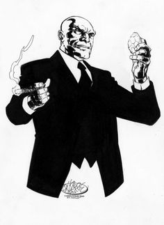 Lex Luthor commission by John Byrne. Comic Book Heroes, Comic Books Art, John Byrne, Fantasy Comics, Lex Luthor, Dc Characters, Comic Artist, Comic Character, Superman