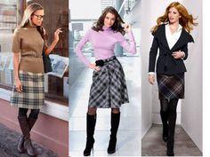 стильные юбки в клетку - Поиск в Google