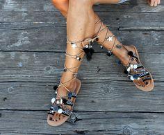 Greek sandals gladiator sandals leather by DimitrasWorkshop