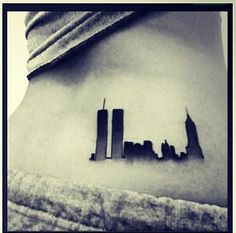 my favorite tattoo I have , never forget 9/11 <3 i love you new york this is for you.