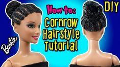 How To Cornrow Barbie Doll Hair - DIY Barbie Hairstyles Tutorial - Makin...