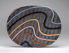 handbuilt ceramics | Hand-built glazed ceramic | 21.5h x 28w x 2.75d in. | Photo credit ...