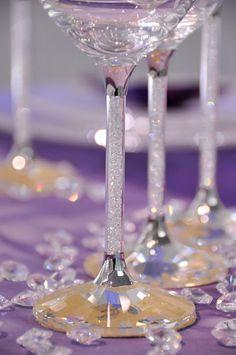 Swarovski..champagne flutes, wine and martini glasses :) I want them all.