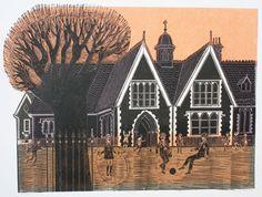 Robert Tavener, illustrator and printmaker, was born in London Little England, English Architecture, English Countryside, Art Techniques, Graphic Illustration, Ephemera, Printmaking, Graphic Design, Fine Art