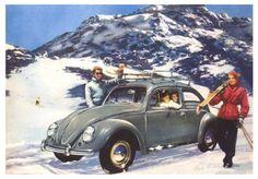 Detail from Vintage Volkswagen Advertisement.