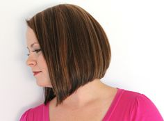 angled bob short hair haircut