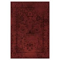 Woven rug with a distressed Persian-style motif in overdyed red and gray.  Product: RugConstruction Material: PolypropyleneColor: Red and gray Note: Please be aware that actual colors may vary from those shown on your screen. Accent rugs may also not show the entire pattern that the corresponding area rugs have.