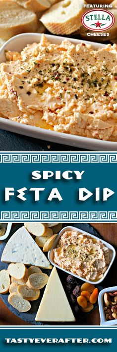 I love this dip for easy holiday entertaining. Just blend up  @StellaCheeses feta Cheese and spicy chopped peppers. Perfect for a cheese board too!  #tastyeverafter #StellaCheeses