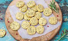 Herzhafte Weihnachtskekse Pikante Biscuits mit italienischen Kräutern