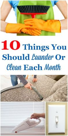 There are things you should be cleaning or washing in your home frequently, but not so frequently that it is built into your daily or even weekly habits. These are the types of things you need to clean about every 30 days or so, or to make it a bit simpler, each month. Here's a list of 10 monthly cleaning and laundering tasks to help you remember what needs to get done. #ad