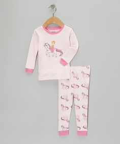 Light Pink Princess Pajama Set - Infant