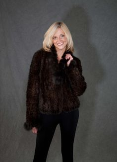 This Beautiful dark brown sheared mink #fur #coat was #restyled from a large #furcoat that was dated in style.