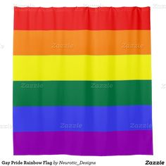 Gay Pride Rainbow Flag shower curtain from Ricaso