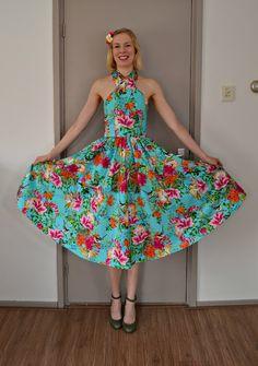 Sewing ♥ Vintage ♥ Knitting: Finished: 50s Halter Dress